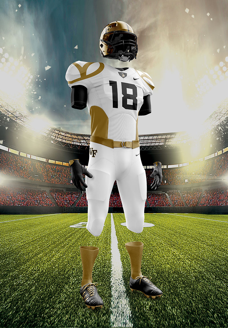 Wake Forest Football Uniform